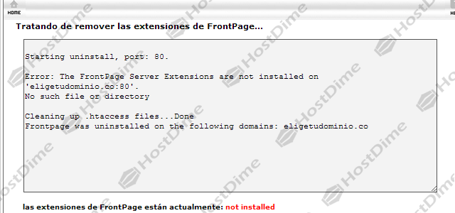 extensiones frontpage