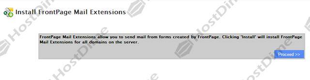 instalar extensiones de FrontPage