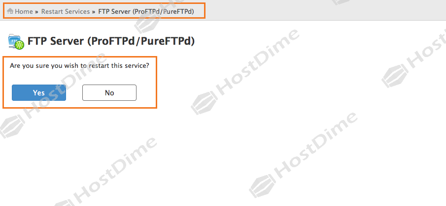 confirmacion reinicio servicio panel whm