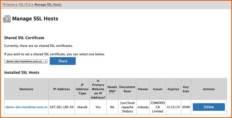 administrar SSL WHM