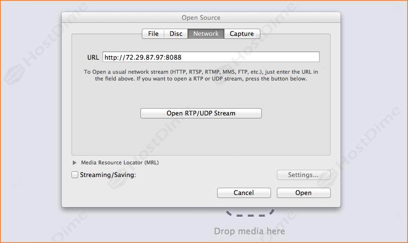 URL reproducir streaming en VLC