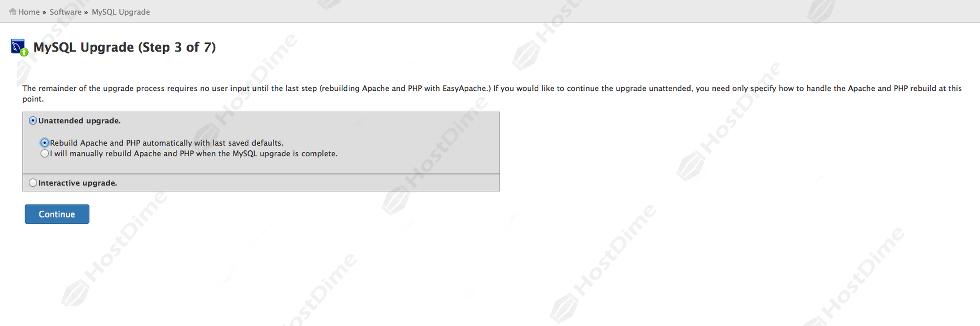 actualizacion mysql panel whm 3 de 7