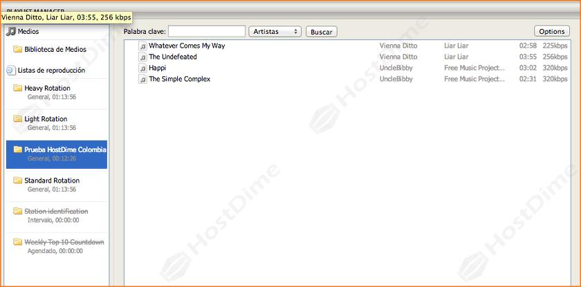 archivos cargados correctamente lista de reproduccion