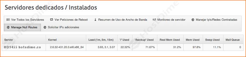 datos monitoreo servidores portal core