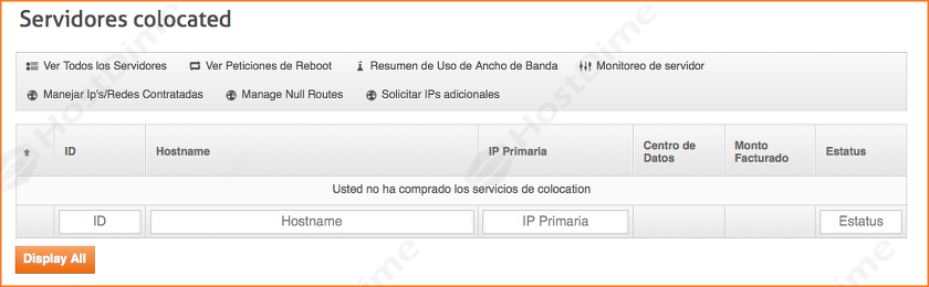 resumen servidores colocated panel core