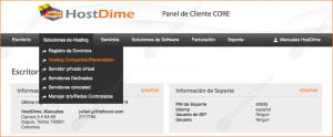 solucion hosting compartido revendedor portal core