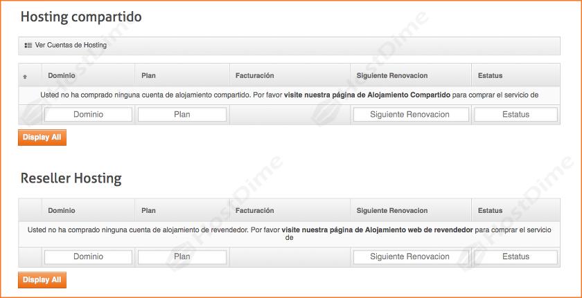ver planes hosting compartido revendedor portal core