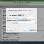 configuracion servidor de correo entrante mac os x