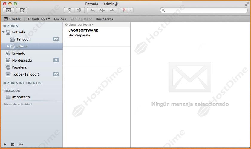cuenta de correo cpanel en mac os x