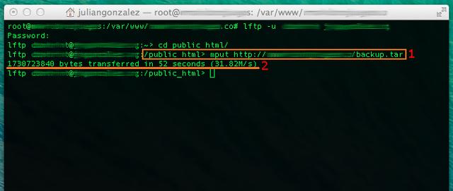 comando transferir archivos grandes entre servidores