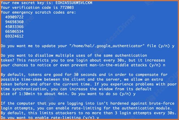 autentificacion de dos pasos en servidor