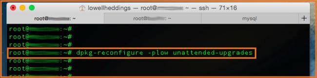 actualizaciones de seguridad en ubuntu server